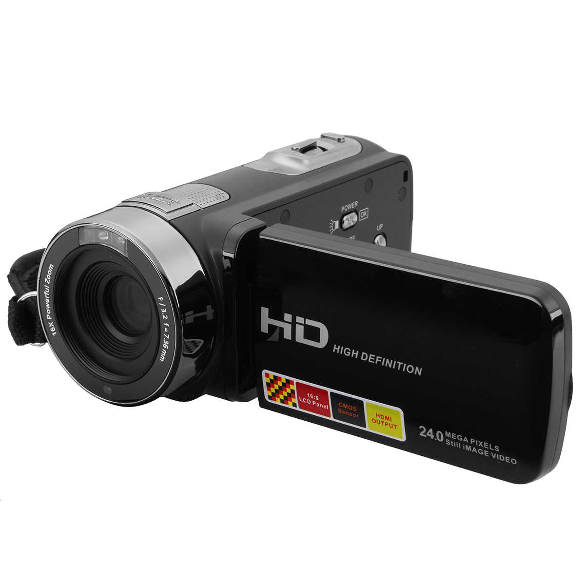 3.0 Inci 1080P FHD Video Camcorder Night-Shot 24MP Kamera Digital dengan Remote Control Konsumen Camcorder