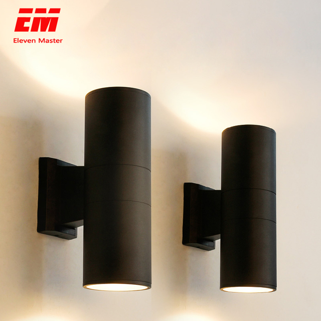 black gray up down outdoor wall light 6W 10W 20W 30W 36W porch garden waterproof home lighting outdoor ZBW0015