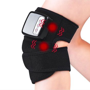 Electric Heating Knee Elbow Brace Wrap Rechargeable Wireless Vibration Massager 094E