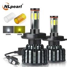 NLpearl 2X lampadina per faro a Led per Auto H4 Led 12000/LM 60W COB HB3 9005 HB4 9006 H7 H8 H9 H11 9012 Hir2 lampada frontale automatica 12V ambra bianca