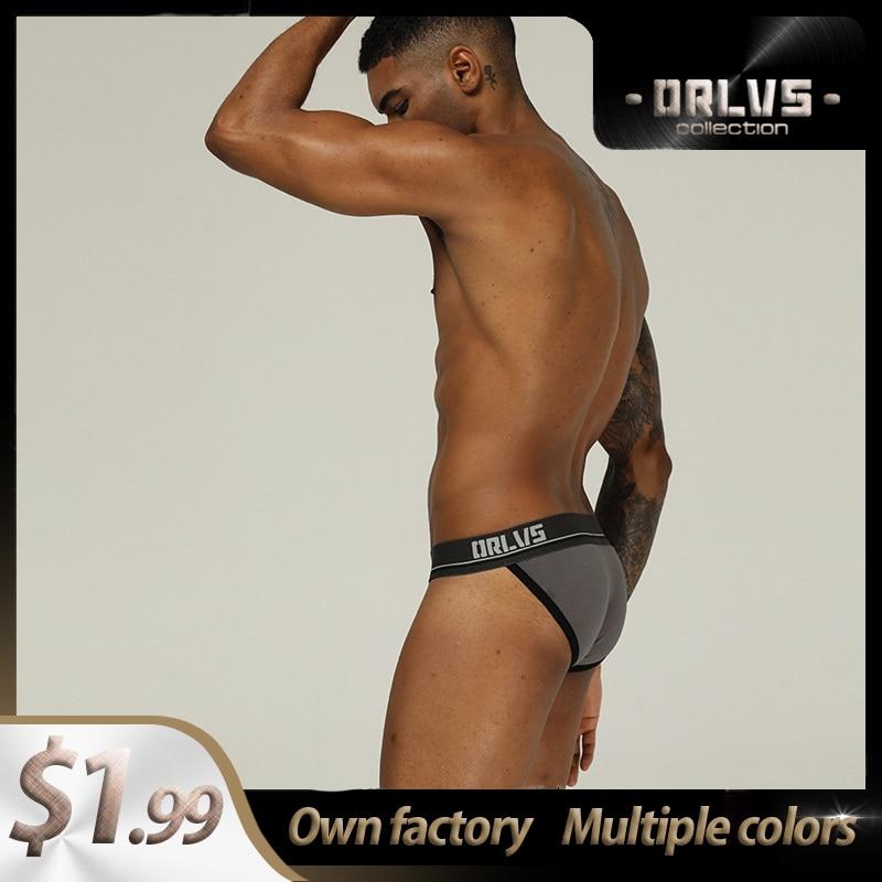 ORLVS Jockstraps Cotton Homme Sexy Men Underwear Briefs Gay Male Jockstrap Bikini OR184 New Arrival Sexy Man