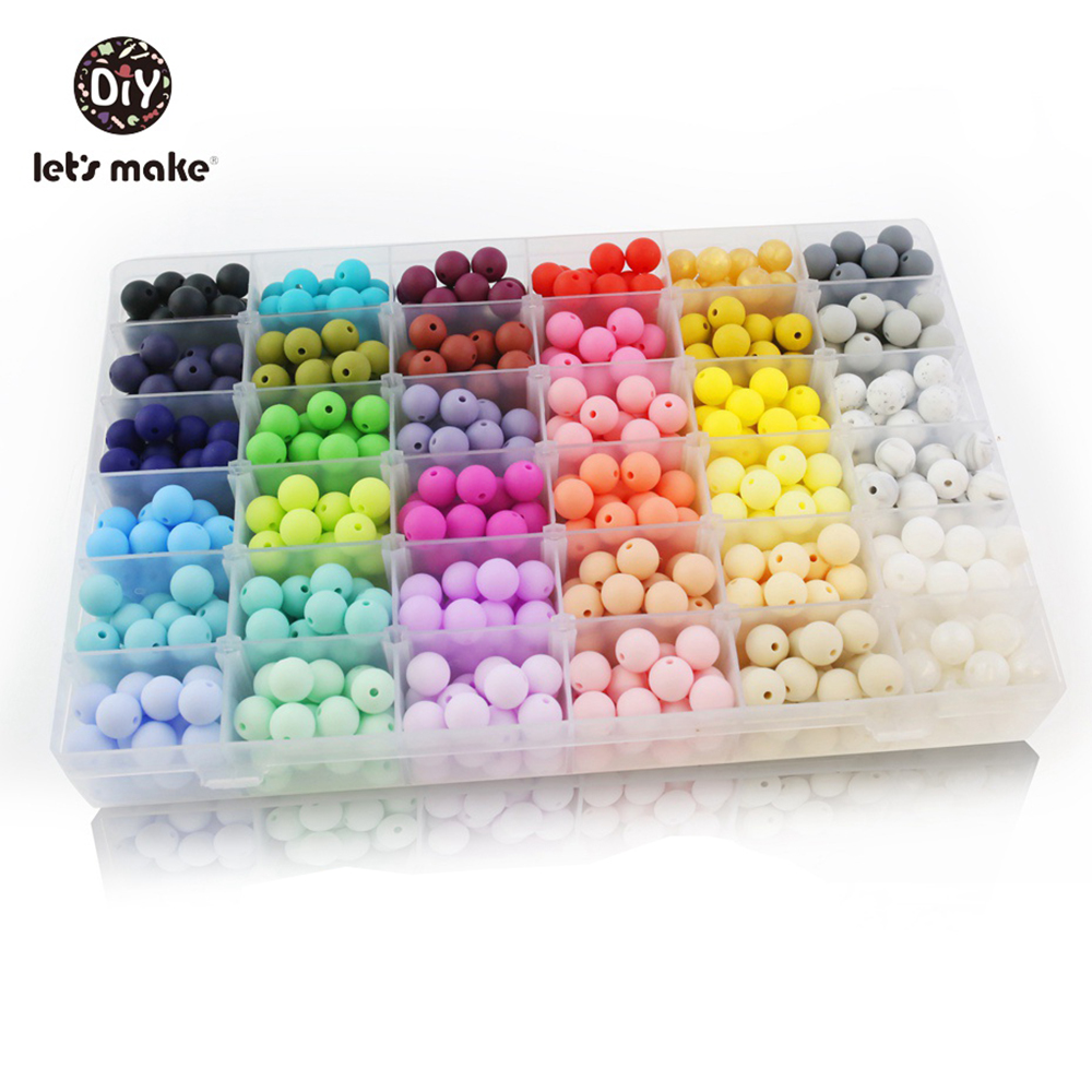 Let's Make Baby DIY Silicone Beads 20mm 5pc Round Beads Baby Teething Food Grade 20mm Silicone Baby Teething Beads