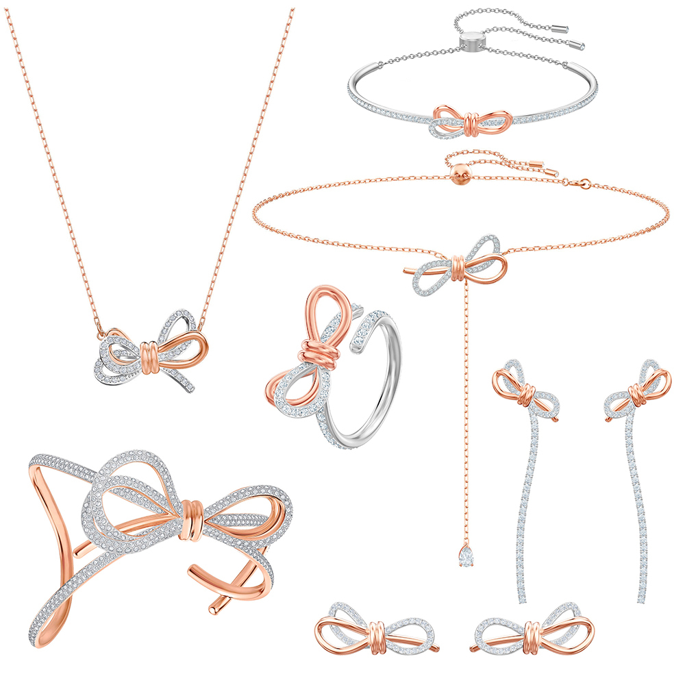 Necklace Gift Bow To Present 1:1 Send Long-Package Y-Shaped Hot-Boutique Two-Color Wide-Stereo
