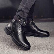 OSCO Echtem Leder Männer Wasserdichte Stiefel Männer Casual Schuhe Mode Knöchel Stiefel Für Männer Hohe Top Winter Männer Stiefel