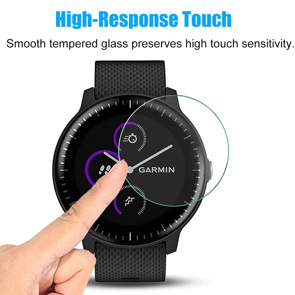 4pcs For Garmin Vivoactive 3 Music Watch HD 9H 2.5D Tempered Protective Glass Explosion-proof Anti Scratch Film For Vivoactive 3