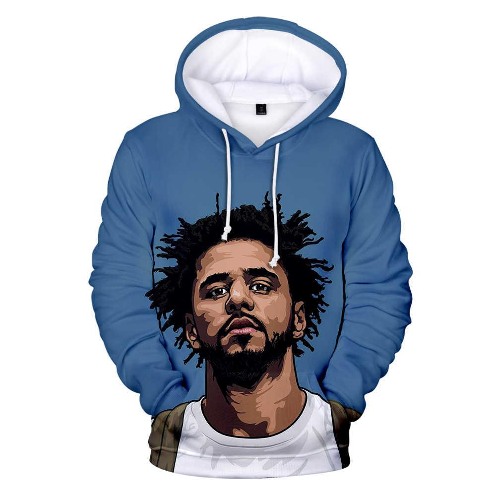 Rapero J cloe nuevo álbum KOD 3D Hoodies hombres mujeres Otoño Invierno moda Popular Sudadera con capucha J. cloe sudadera Hip Hop 3D sudadera abrigos