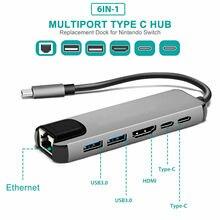 USB רכזת C רכזת רב USB 3.0 HDMI מתאם Dock עבור MacBook Pro אביזרי USB C סוג C 3.1 ספליטר 3 יציאת USB C HUB