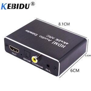 Image 2 - Kebidu HDMI 2.0 Audio Extractor 5.1 ARC HDMI Audio Extractor Splitter HDMI To Audio Extractor Optical TOSLINK SPDIF For Speaker