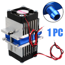 1 Set Mini Air Conditioner DIY Kit Thermoelectric Peltier Cooler Refrigeration Cooling System + Fan For Home Tool brand new household thermoelectric peltier 72w cooler refrigeration semiconductor cooling system kit cooler fan finished set