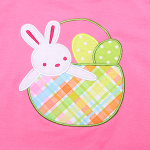 Image 4 - Пасхальный кролик детская одежда бутик хлопковая одежда Вышивка Одежда