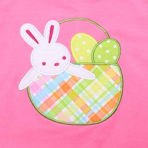 Image 4 - Paskalya tavşanı bebek giyim butik pamuk giyim nakış elbise erkek bebek giyim