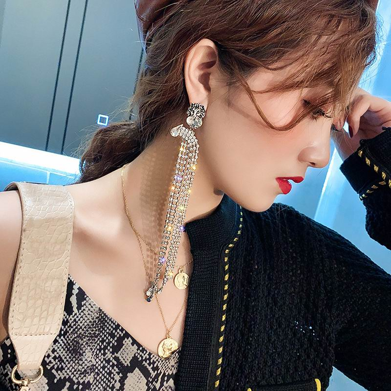 Statement Rhinestone Tassel Earrings For Women 2020 New Fashion Luxury Big Long Earrings Jewelry Wedding Party Bijoux Gifts