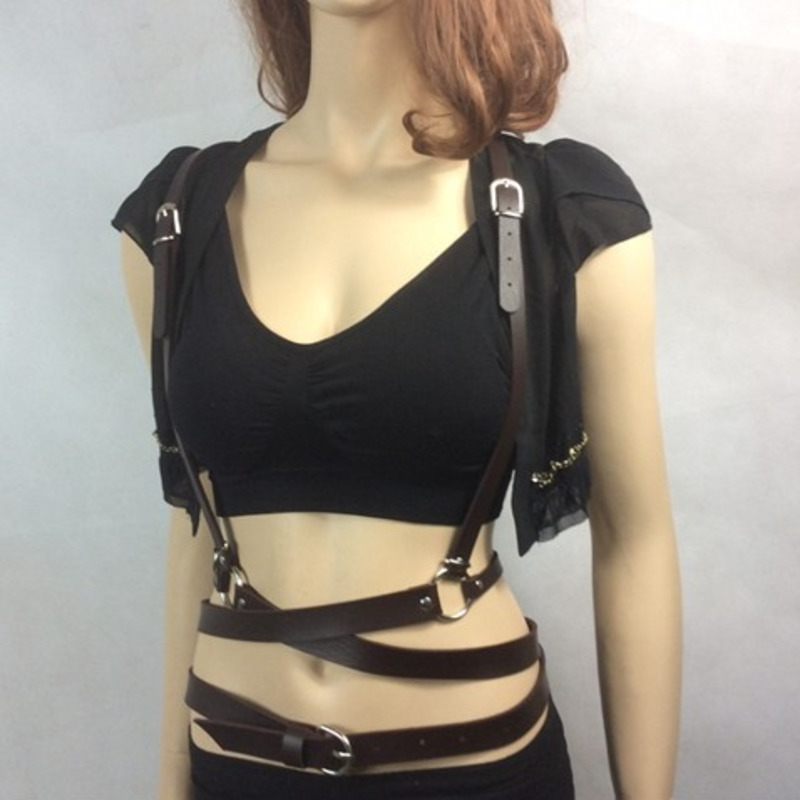 2020 New Fashion Spring Punk Style Belly Belts For Women Trendy PU Leather All-match Strap Solid Sexy Belt Female Stylish ZK395
