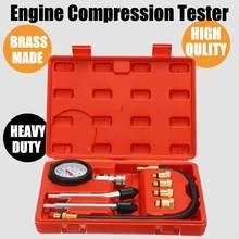 0-300 PSI Petrol Engine Pressure Gauge Tester Gas Engine Cylinder Compression Kit Set Car Meter Test Leakage Diagnostic Tool