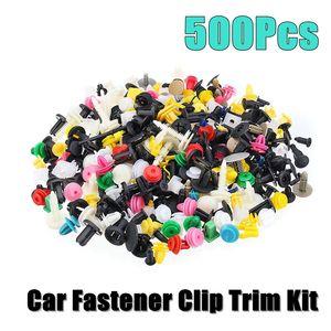 500Pcs Universal Gemengde Auto Fastener Auto Bumper Clips Retainer Push Motorkap Auto Fastener Rivet Deur Panel Voor Fender liner(China)