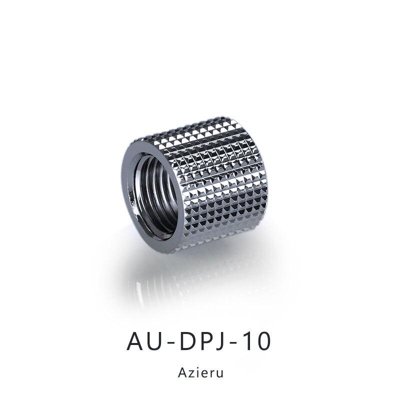 Azieru  iAU-DPJ-10 Diamond Pattern Double G1/4 Thread Female Butt Joint Connector Extender,Tube Fittings Black/Silver 3
