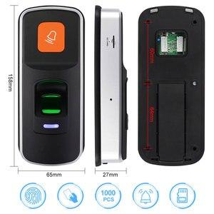 Image 2 - Alone RFID Fingerprint Access Control System Biometrische 125KHz Reader Türöffner Unterstützung SD Karte WG26 + 10 stücke Karten keyfobs