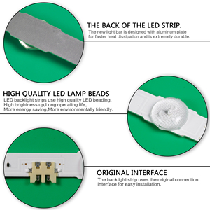 "Image 5 - LED תאורה אחורית רצועת 13 מנורת עבור Samsung 50 ""טלוויזיה UE50JU6800 V5DR_500SCA_R1 V5DR_500SCB_R1 CY TJ050HGNV2H UE50JU6850 BN96 38479A"