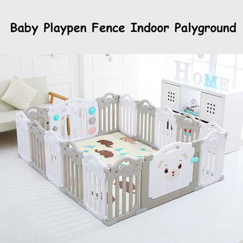 Baby Playpen Fence Indoor Palyground Park Kids Safe Guardrail Baby Game Crawling Fence Baby Play Yard 14 pieces/set baby game fence multiple combinations baby crawling fence toddler fence child safety fence toy