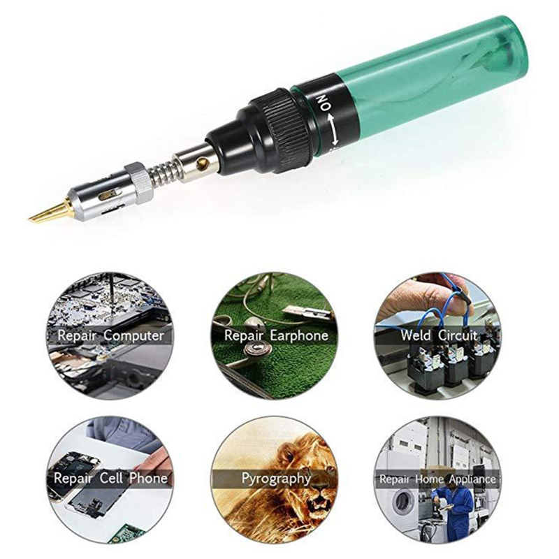 Gas Welder Electric Welding Tool Cordless Gas Soldering Iron Set Combination Kit X4YE