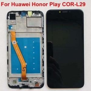 "Image 1 - 6,3 ""AAA Für Huawei honor play COR L29 LCD Display Digitizer Touch Screen Für Huawei honor play LCD Original LCD + rahmen"