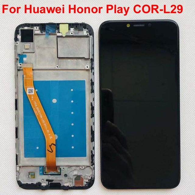 "6.3 ""aaa para huawei honor play COR L29 display lcd digitador da tela de toque assembléia para huawei honor play lcd original + quadro"