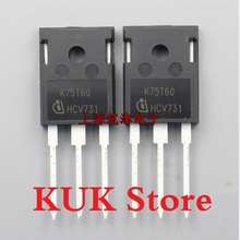 Original 100% NEW K75T60 IKW75N60T 600V 75A IGBT TO-247 10PCS/LOT free shipping 10pcs lot spw20n60c3 20n60c3 n channel to 247 original authentic