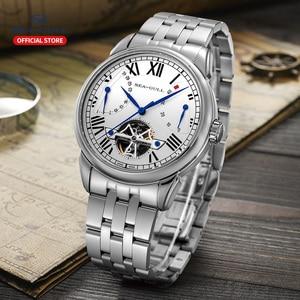 Image 5 - Seagull mechanical watch 40mm high quality watch automatic mens business watch waterproof mechanical watch 816.522
