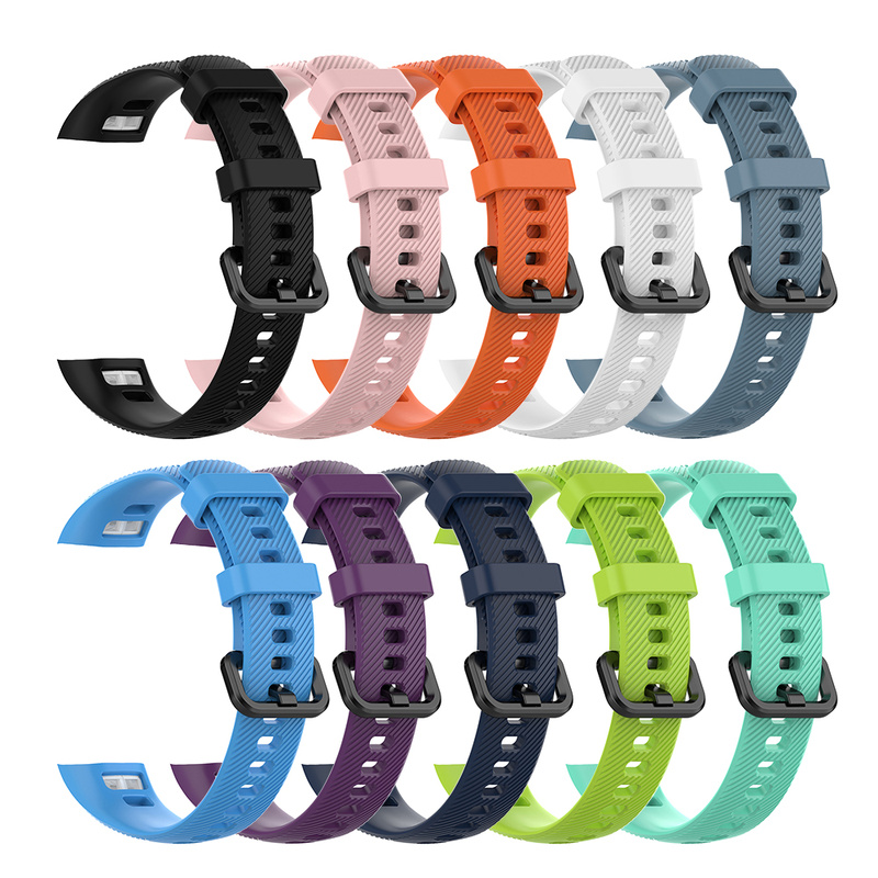 For Original Huawei Honor Band 5 Smart Wristband Amole Strap Silicone For Honor Band 5 Smart Watch Bracelet Band Correa
