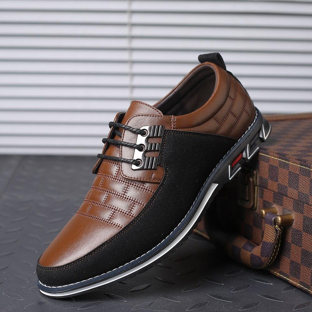 H292cddd64f5e495f811deae140ae6c04V 2019 New Big Size 38-48 Oxfords Leather Men Shoes Fashion Casual Slip On Formal Business Wedding Dress Shoes Men Drop Shipping