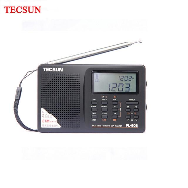 Tecsun PL 606 Digital PLL Portable Elderly/Studendt Radio FM Stereo / LW / SW / MW DSP Receiver Lightweight Rechargeable