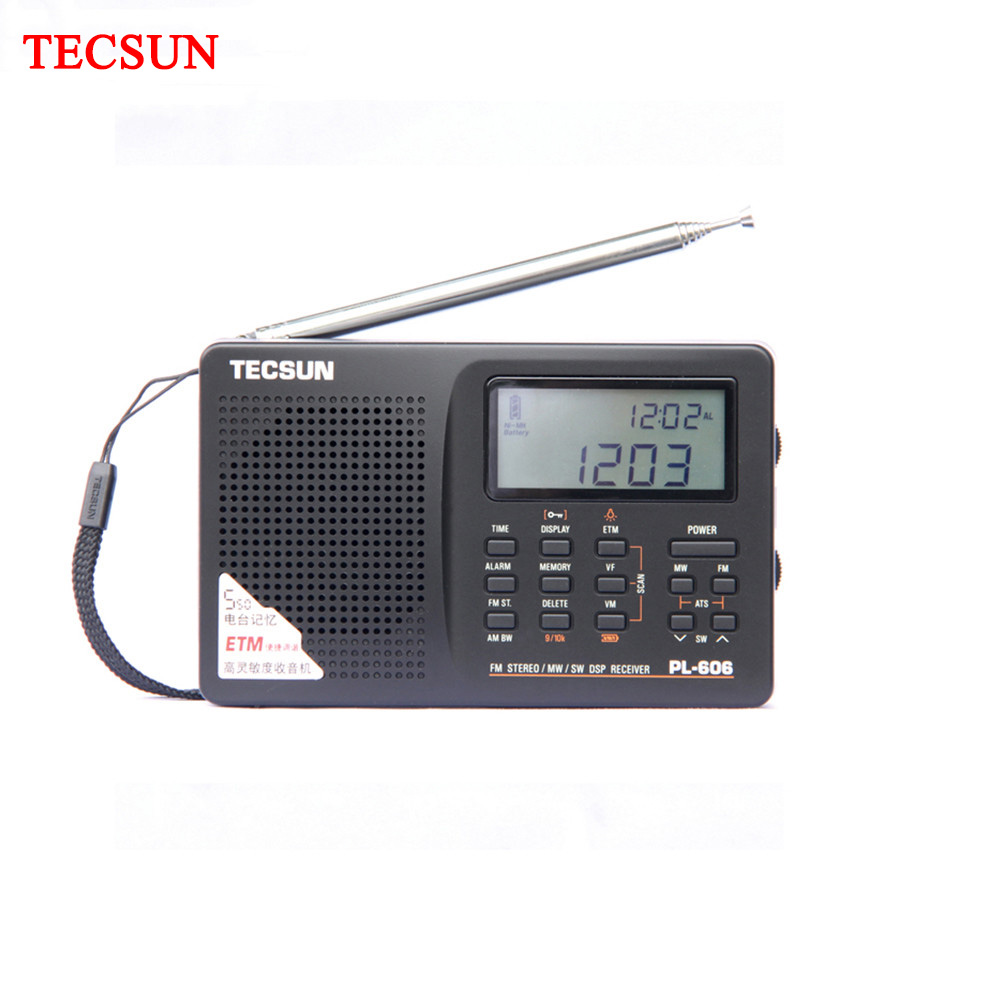 Tecsun PL-606 Digital PLL Portable Radio FM Stereo/LW/SW/MW DSP Receiver Light and easy carry