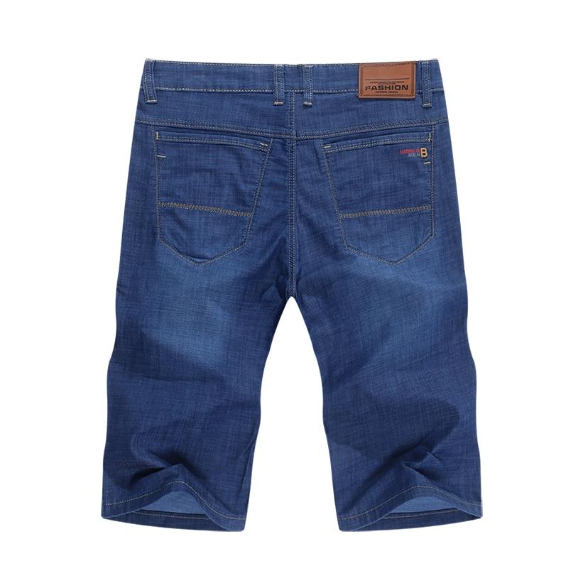 KSTUN Mens Jeans Shorts Stretch Blue Straight Regular Fit 2020 Summer Business Casual Pants Cotton