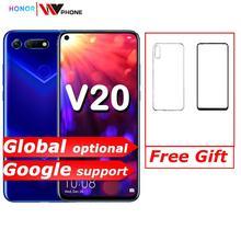 Danh Dự V20 Danh Dự Xem 20 Liên Kết Turbo Điện Thoại Thông Minh Để Vinh Danh V20 Android 9 Hỗ Trợ NFC Sạc Nhanh Điện Thoại Di Động
