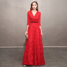 2020 offre spéciale demi robe de demoiselle dhonneur petite fête jupe pour montrer mince Qiu Dong tenue haut de gamme femme nouvelle atmosphère même vêtements