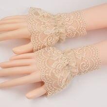 В готическом стиле в ретро; Черный съемный рукав Ложные манжеты