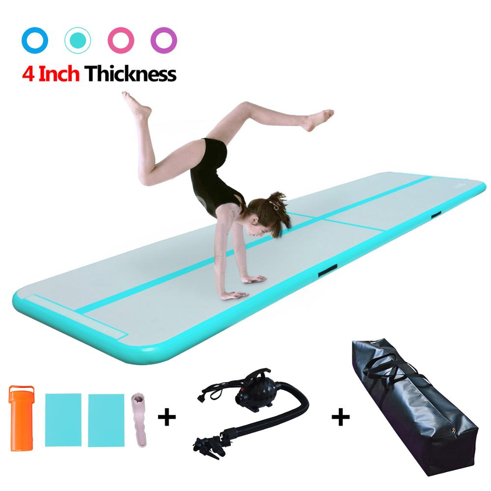 Airtrack Tumbling Mat,length 10ft To 15 Ft Inflatable Gymnastics Air Track Mat Air Floor Mat+electric Pump Training/cheerleading