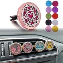 Розовое золото ароматерапия диффузор ожерелье ювелирные изделия автомобильный парфюм медальон эфирное масло диффузор автомобильный зажим Арома духи медальон кулон