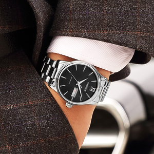 Image 4 - CADISEN גברים שעון אוטומטי מכאני ספיר יוקרה מותג 50ATM עמיד למים שעון זכר Reloj Hombre Relogio Masculino