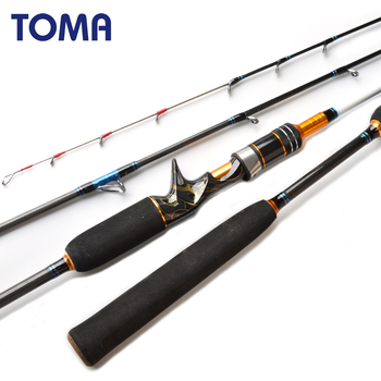 цена на TOMA 1.80m Jigging Octopus Spinning Carbon Fishing Rod 2 Section MH 50-180g Inshore Sea Bass Casting Boat Fishing Rod Saltwater