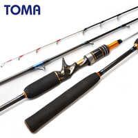 TOMA 1.80m Jigging Octopus Spinning Carbon Fishing Rod 2 Section MH 50-180g Inshore Sea Bass Casting Boat Fishing Rod Saltwater