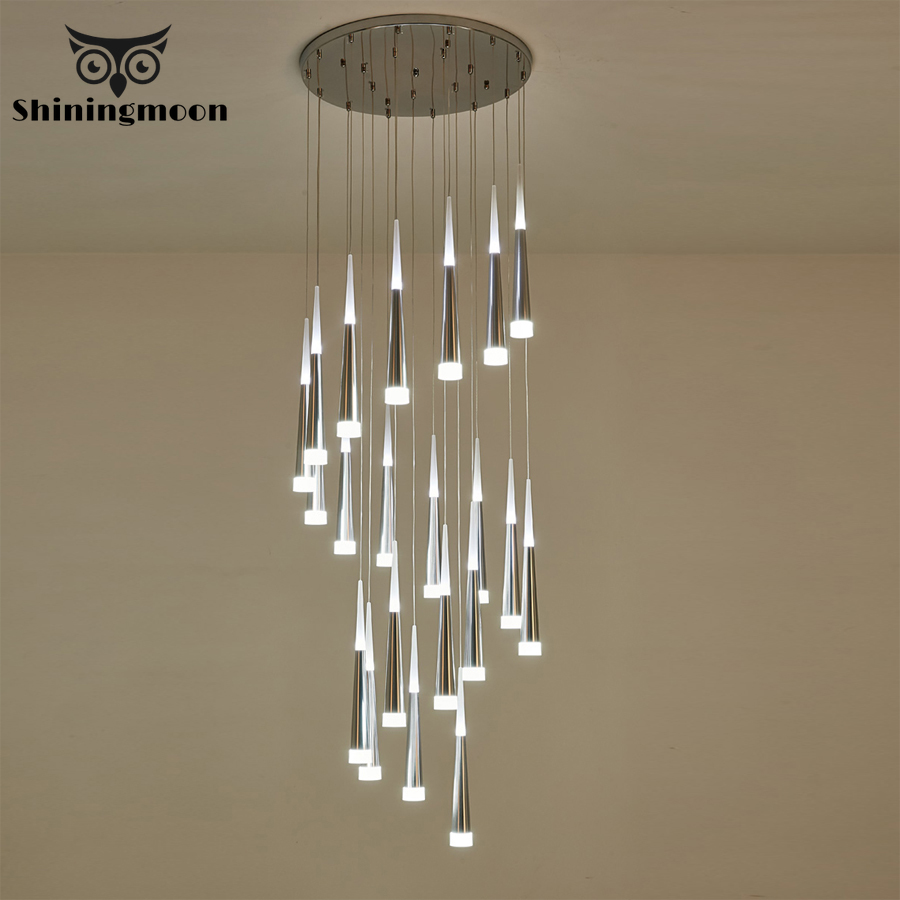 Modern Crystal Chandelier Hotel Living Room Chandelier Ceiling Home Decor Lighting Fixtures Room Stair Lighting Lustre Luminaria