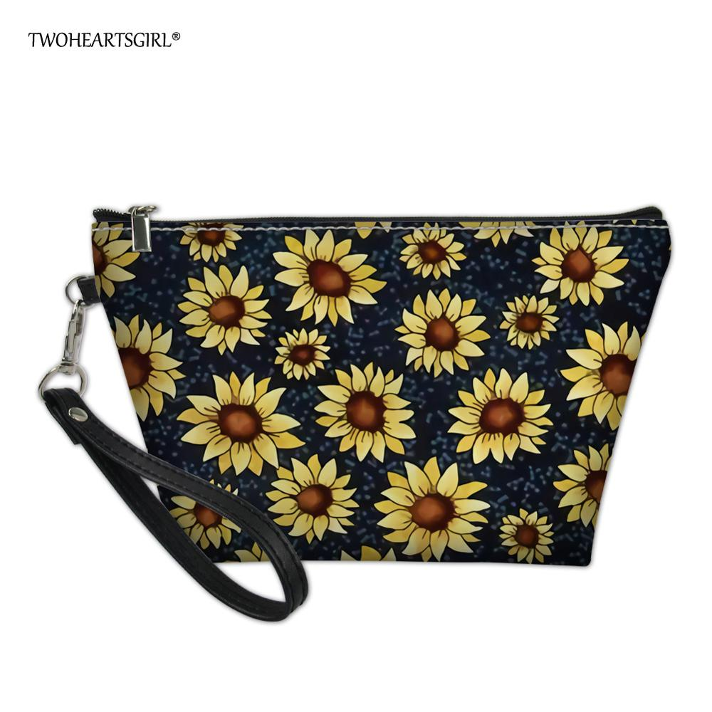 Multifunction Travel Cosmetic Bag Neceser Women Makeup Bags Toiletries Organizer Sunflower Female Storage Make Up Cases