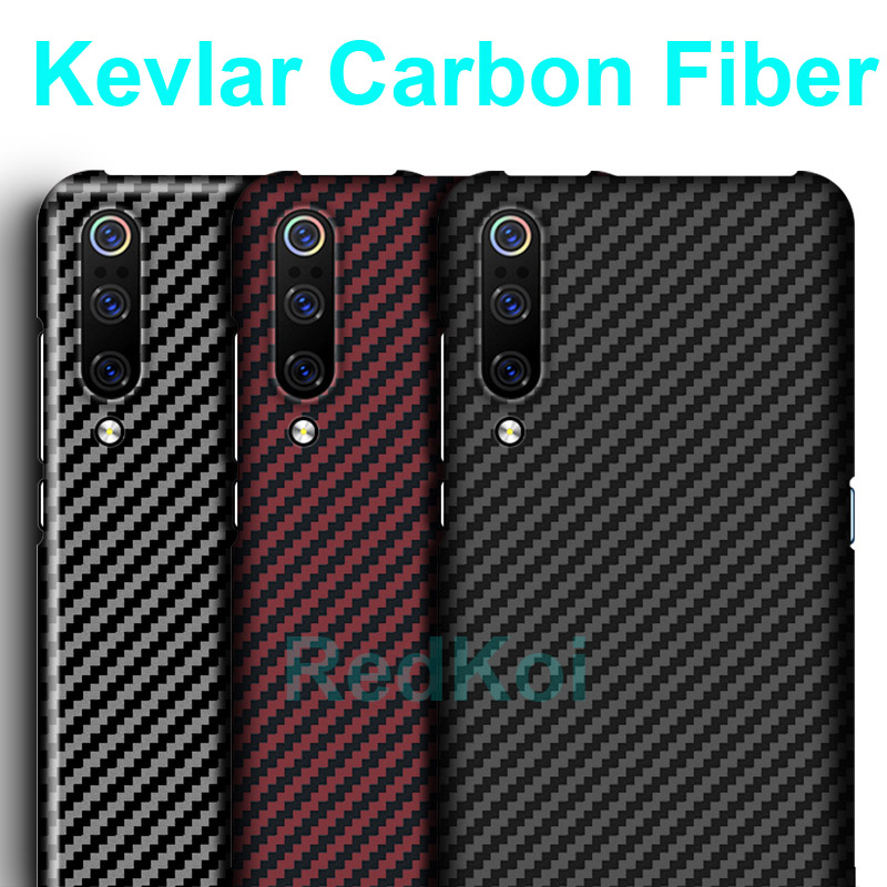 RedKoi 600D Kevlar Carbon Fiber Phone Back Cover for Xiaomi Mi 10 Pro Case Ultra Thin Cover Xiaomi Mi 10 9 SE Carbon Fiber Case