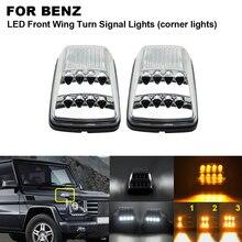 Dynamic Streamer Front Wing LED Turn Signal Corner Light For Benz Mercedes G-Class W463 G500 G55 AMG G550 White Position Lights led drl daytime running light for benz w463 g500 g55 g class amg g63 g65 driving light