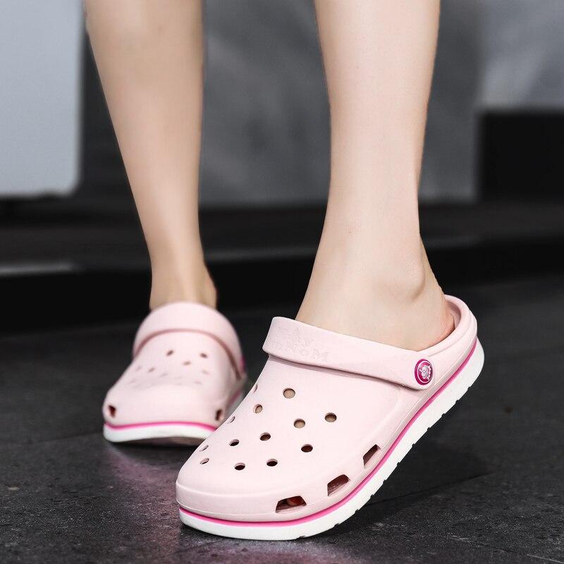 2020 Women Sandals Rubber Clogs For Female EVA Sandles Unisex Hole Shoes Wild Nurse Hospital Beauty Salon Laboratory Work Shoe