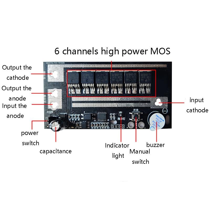 1PC Automatic Spot Welding Control Panel Portable Mini DC Pulse Energy Storage DIY Spare Parts MOS Intelligent Fault Detection