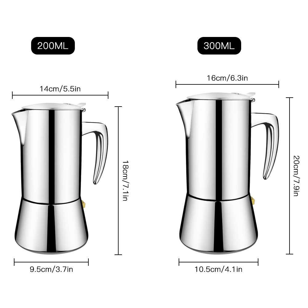 2020 Nuovo Campeggio Presse Caffè Es Presse O Piano Cottura in Acciaio Inox Moka Pentola Portatile Caffettiera per Il Campeggio Esterno