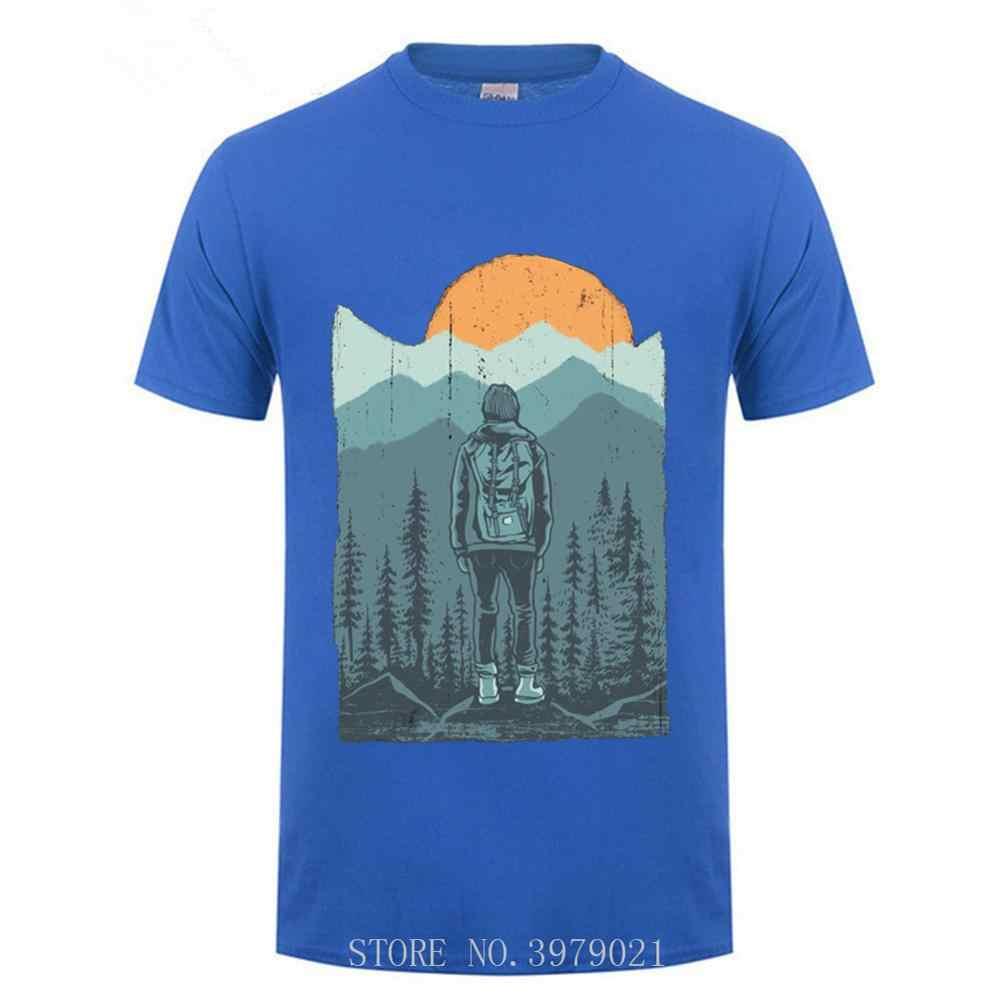 Hiker ROCK ปีนเขาเสื้อยืด Climber แขนสั้นตลกของขวัญ O-Neck เสื้อ T สบายผ้าฝ้าย Tees