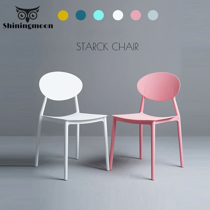 Nordic Minimalist Table Chairs Modern Plastic Dining Room Chairs White Restaurant Dining Room Chair Bedroom Study Office Chair